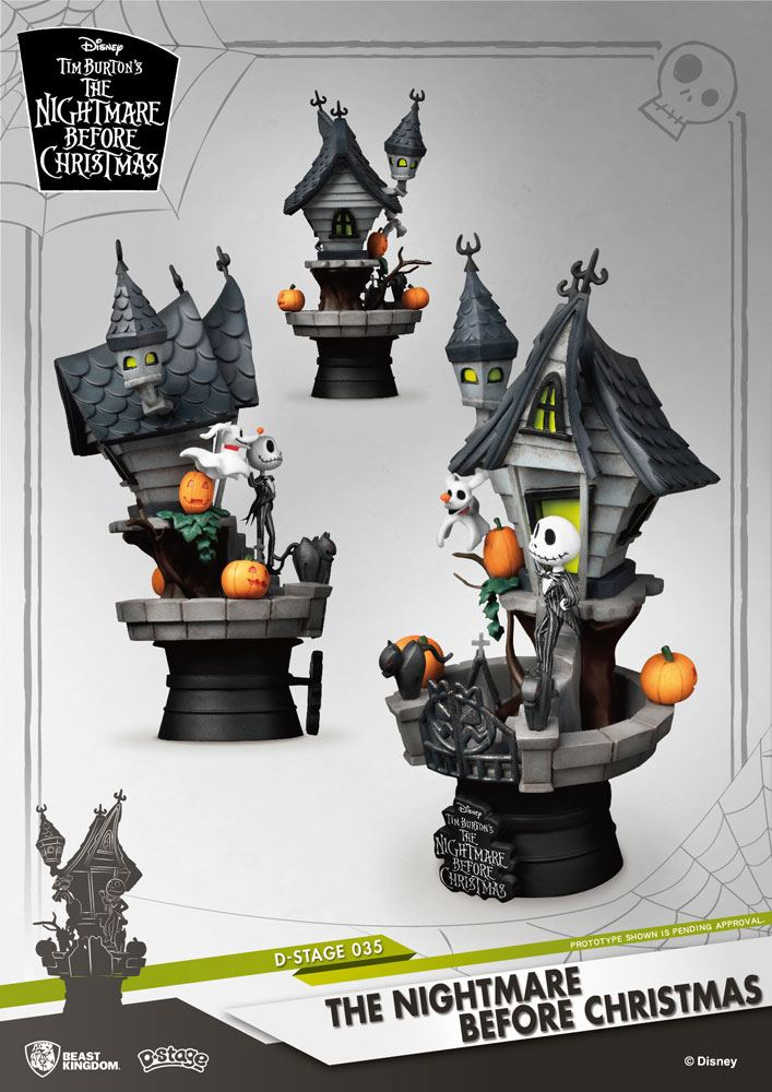 Nightmare before Christmas D-Stage PVC Diorama Jack's Haunted House 15 cm | Moon Collectibles